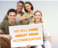 We will care about your accommodation